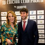 Karine Janson, brand manager de  Baume&Mercier en España, junto al futbolista Esteban Granero.