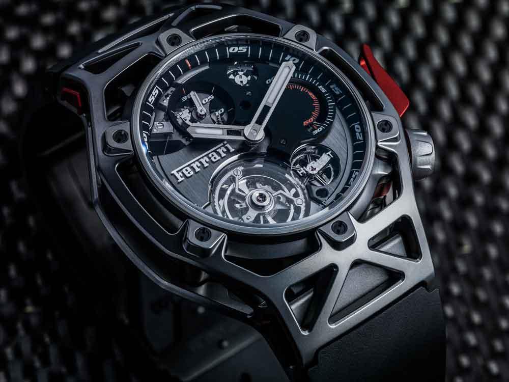 0b43ee107a54 El nuevo cronógrafo con tourbillon ha sido creado en el Centro de Diseño de  Ferrari