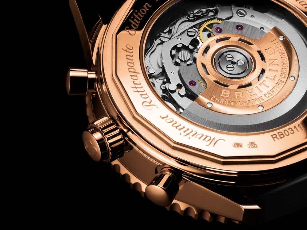 Calibre Breitling Navitimer cronógrafo ratrapante