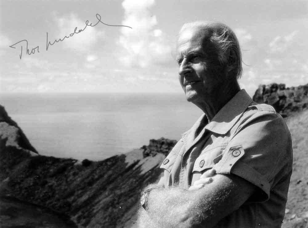 explorador e investigador noruego Thor Heyerdahl ( 1914-2002