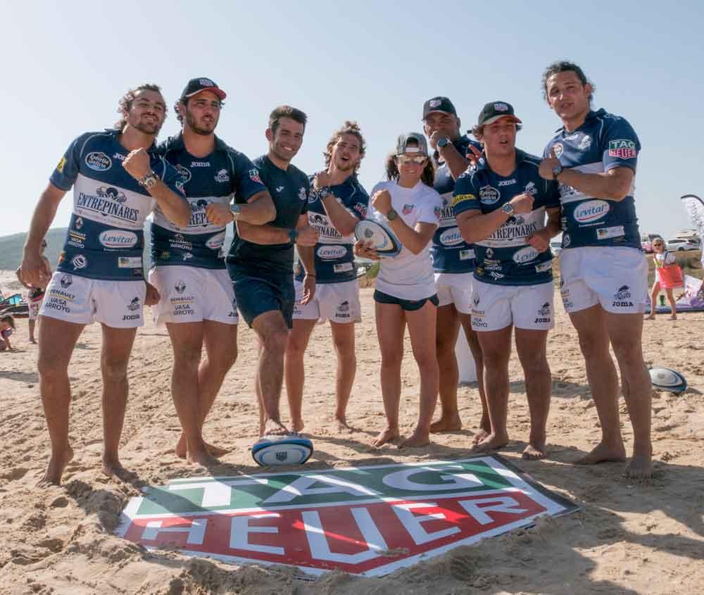 Gisela Pulido y el equipo de rugby vallisoletano VRAC Quesos Entrepinares
