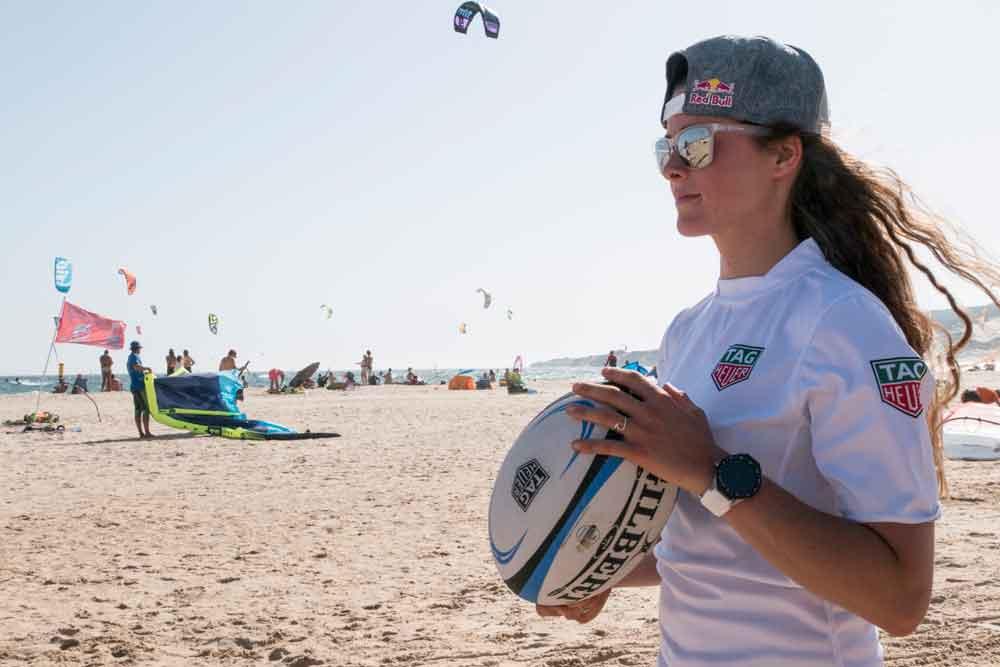 Gisela pulido, embajadora de TAG Heuer campeona del mundo de kitesurf