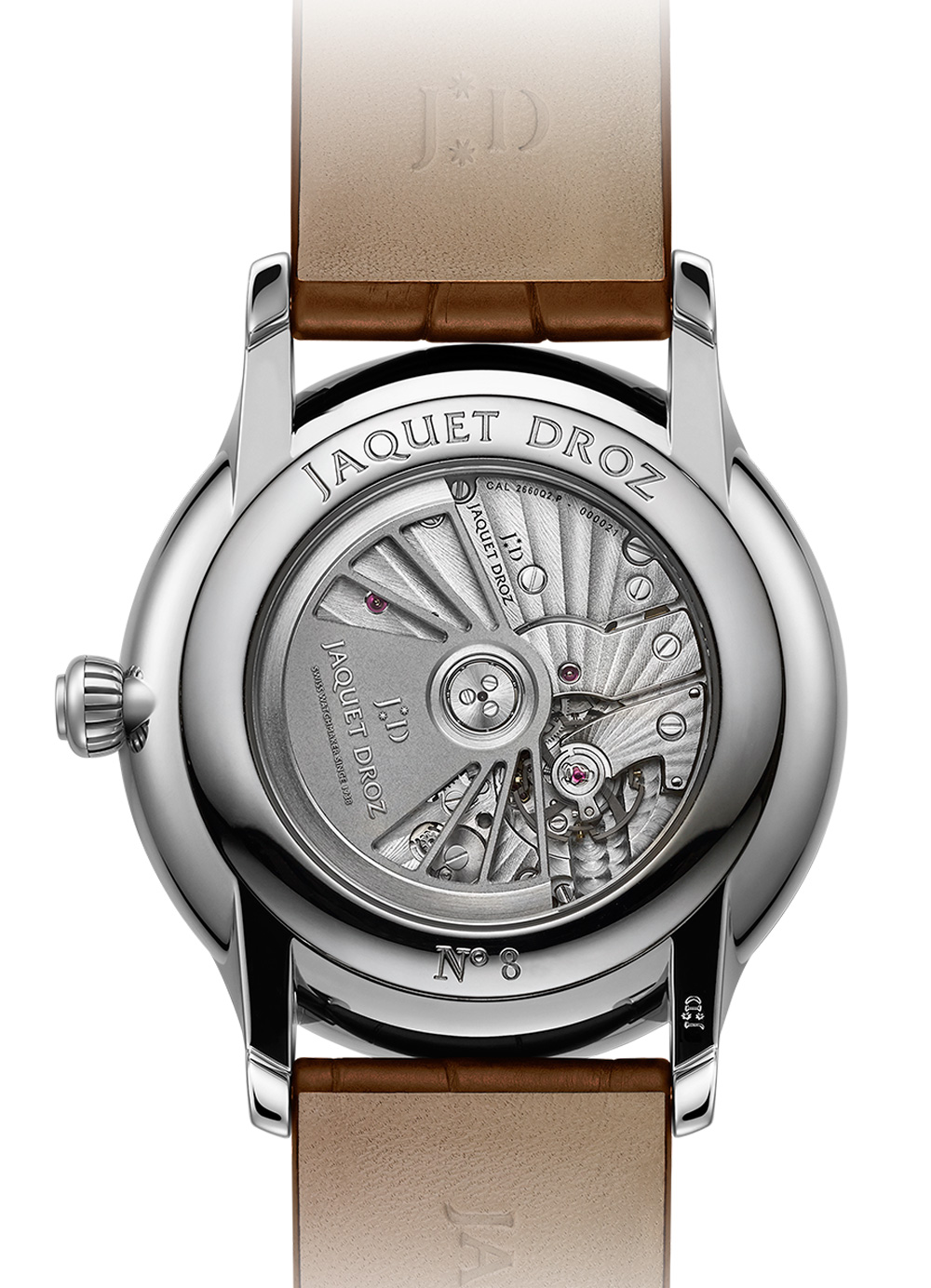 Mecanismo JAQUET DROZ GRANDE SECONDE QUANTIÈME SATIN-BRUSHED