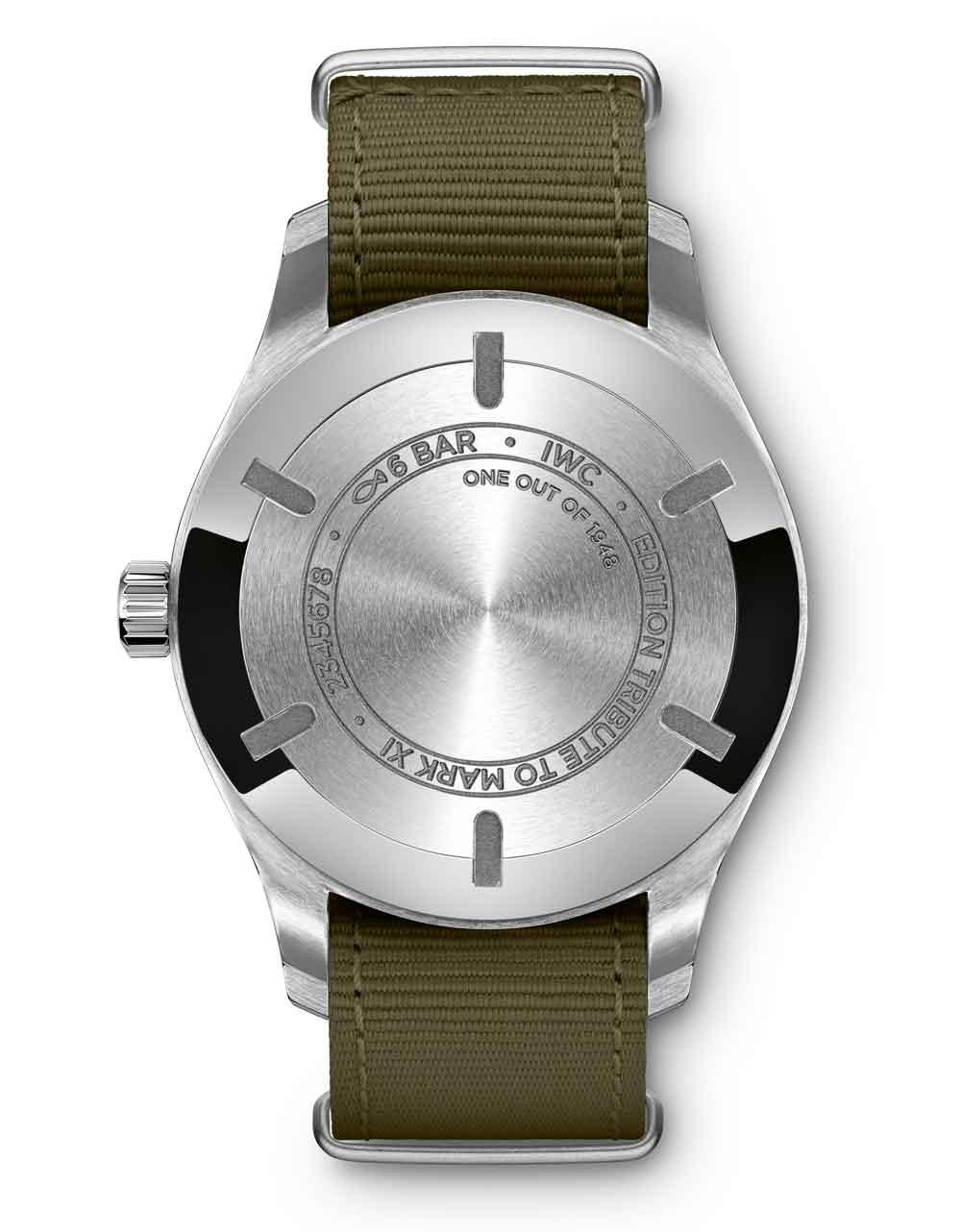 Fondo del reloj Pilot Mark XVIII Edition Tribute to Mark XI de IWC