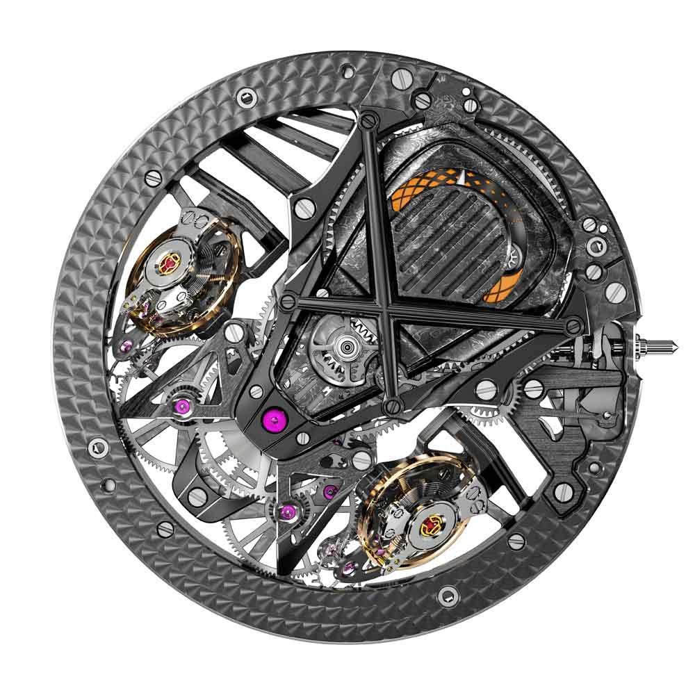 Mecanismo de cuerda manual Reloj ROGER DUBUIS EXCALIBUR AVENTADOR S por delante