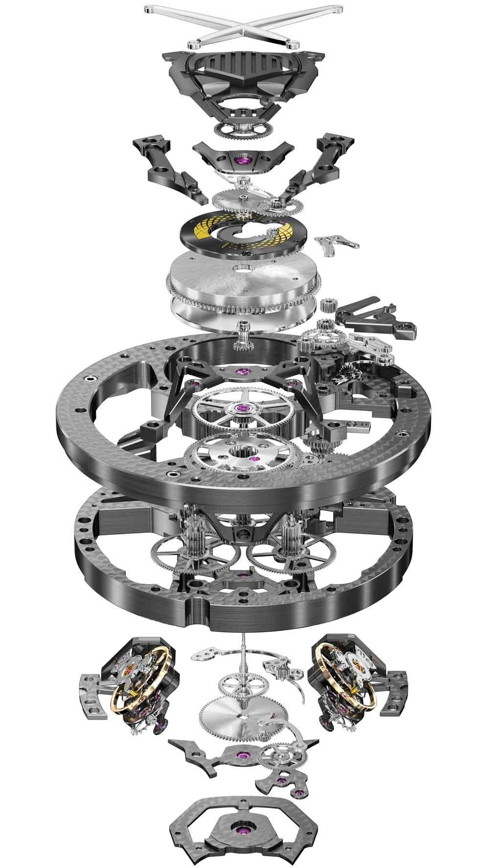 Mecanismo cuerda manual Reloj ROGER DUBUIS EXCALIBUR AVENTADOR S