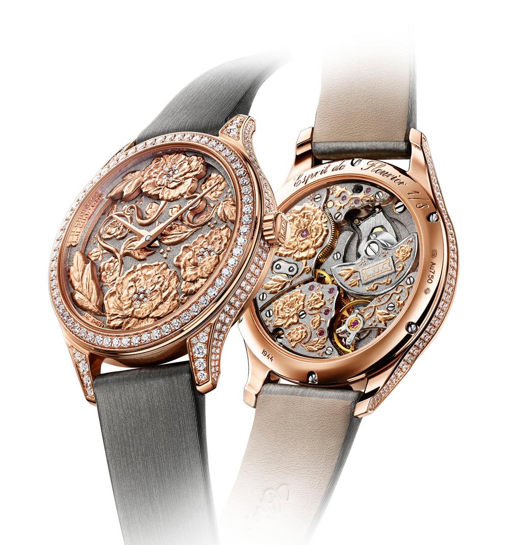 Reloj femenino L.U.C XP Esprit de Fleurier Peony de Chopard