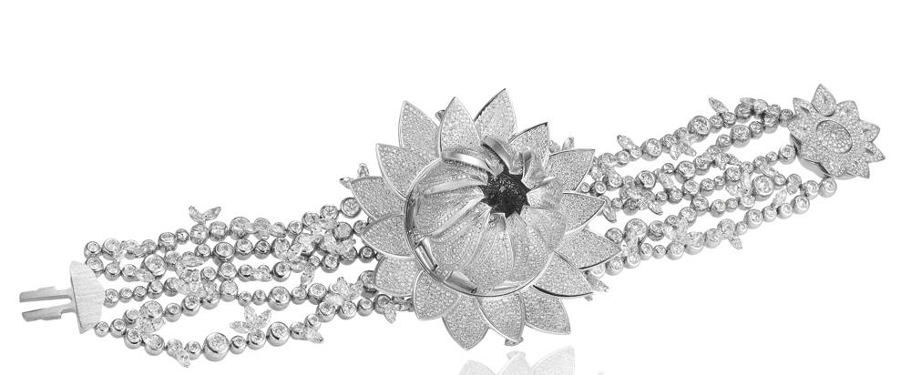 Reloj secreto Lotus Blanc de Chopard