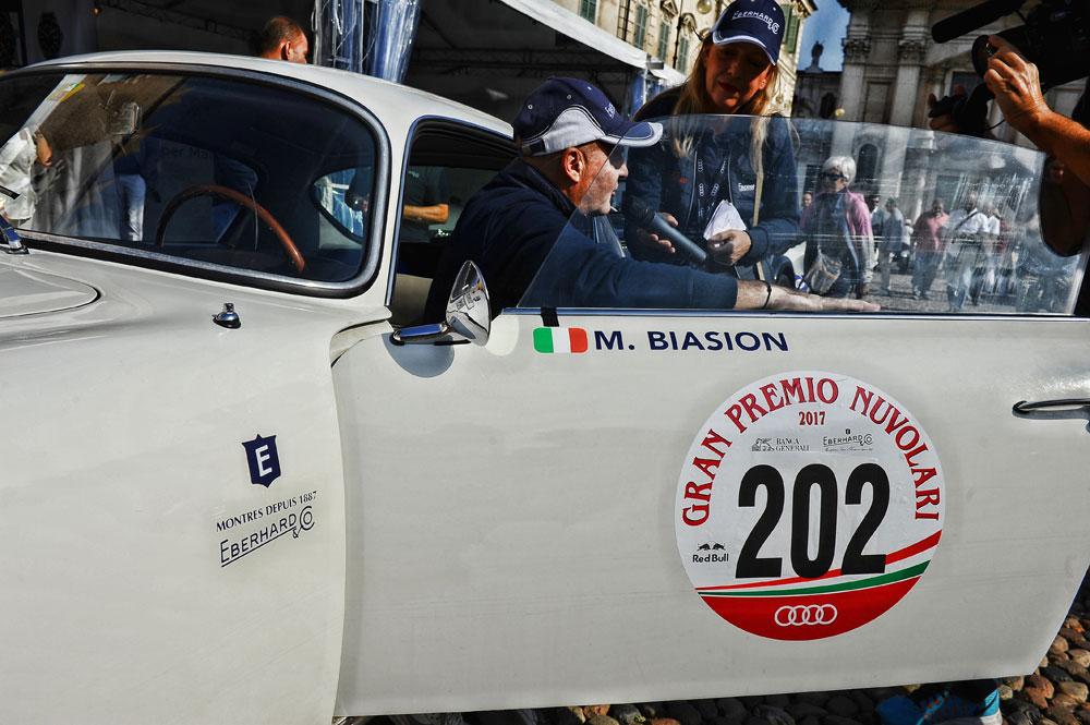 doble campeón mundial de rallys Miki Biasion, embajador de Eberhard & Co