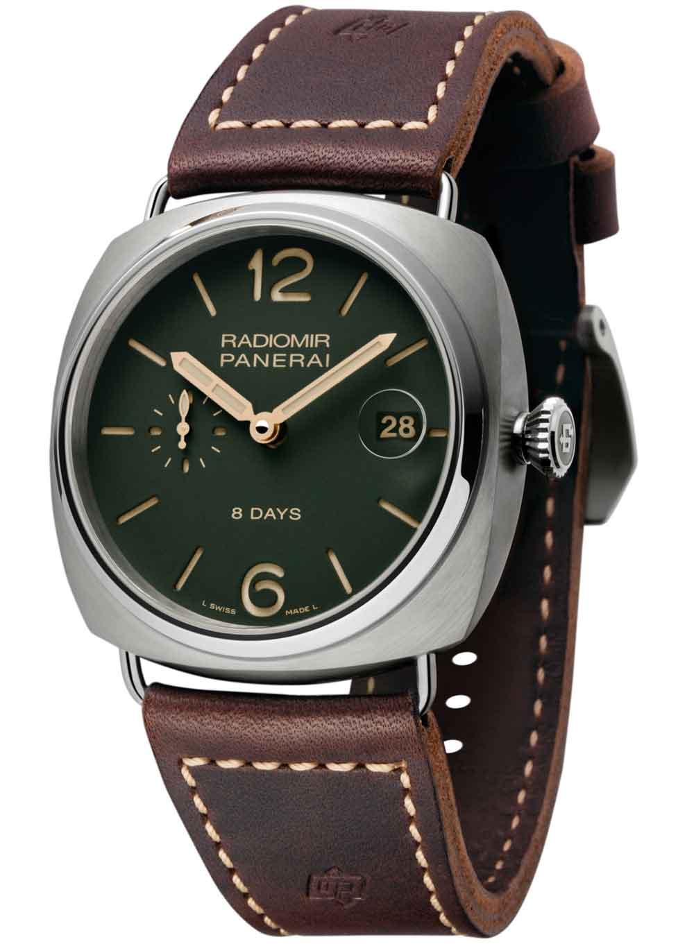 Relojes Panerai Radiomir 8 Days Titanio – 45mm esfera verde de Panerai