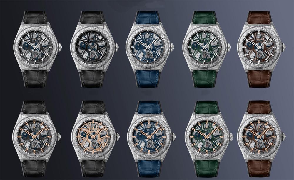 diez primeros relojes Defy Lab con oscilador Zenith