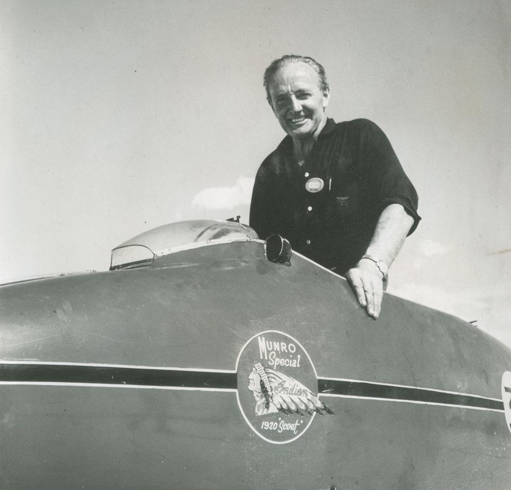 leyenda del motociclismo Burt Munro