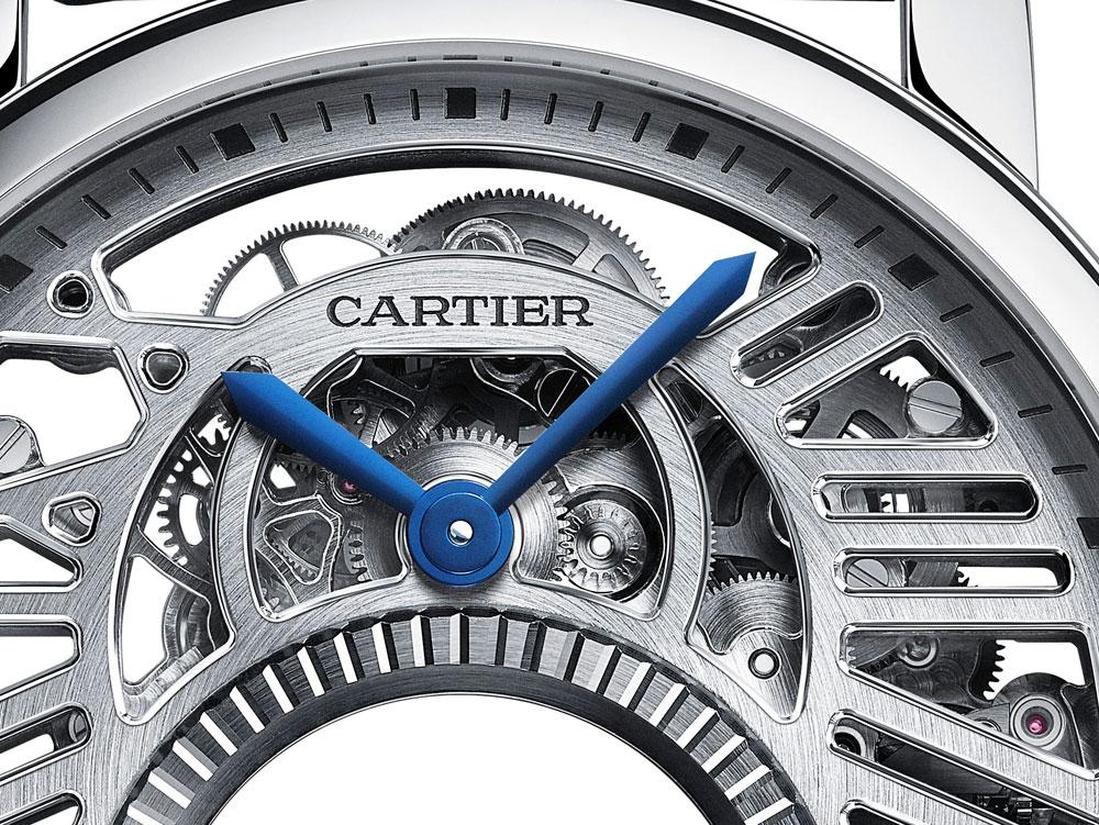 Disco horario Reloj Rotonde de Cartier Mysterious Double Tourbillon