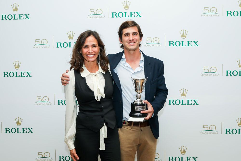 Inés Sastre y Jaime Espinosa de los Montes, ganador Trofeo Golf Rolex 2017,