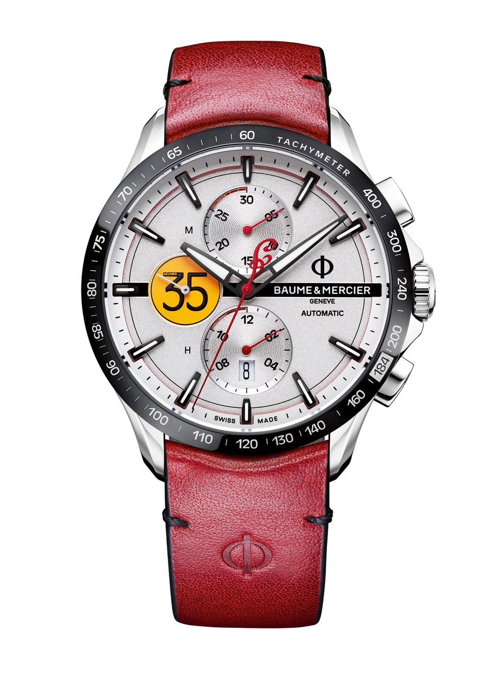 Reloj Clifton Club Burt Munro Tribute Edición Limitada de Baume & Mercier.