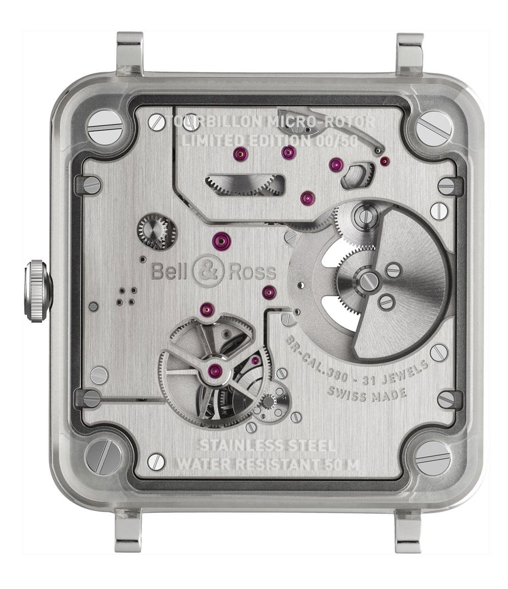 calibre BR?CAL.380 Reloj BACR-X2 Tourbillon Micro-Rotor de Bell & Ross