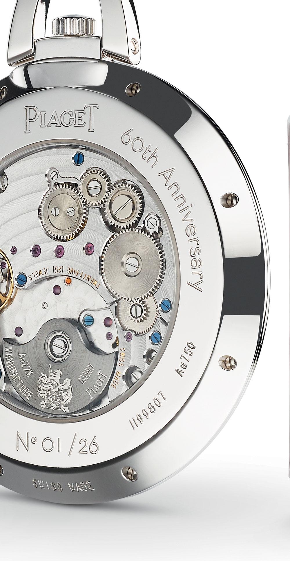 calibre 1200P reloj de bolsillo Altiplano 60 aniversario de Piaget