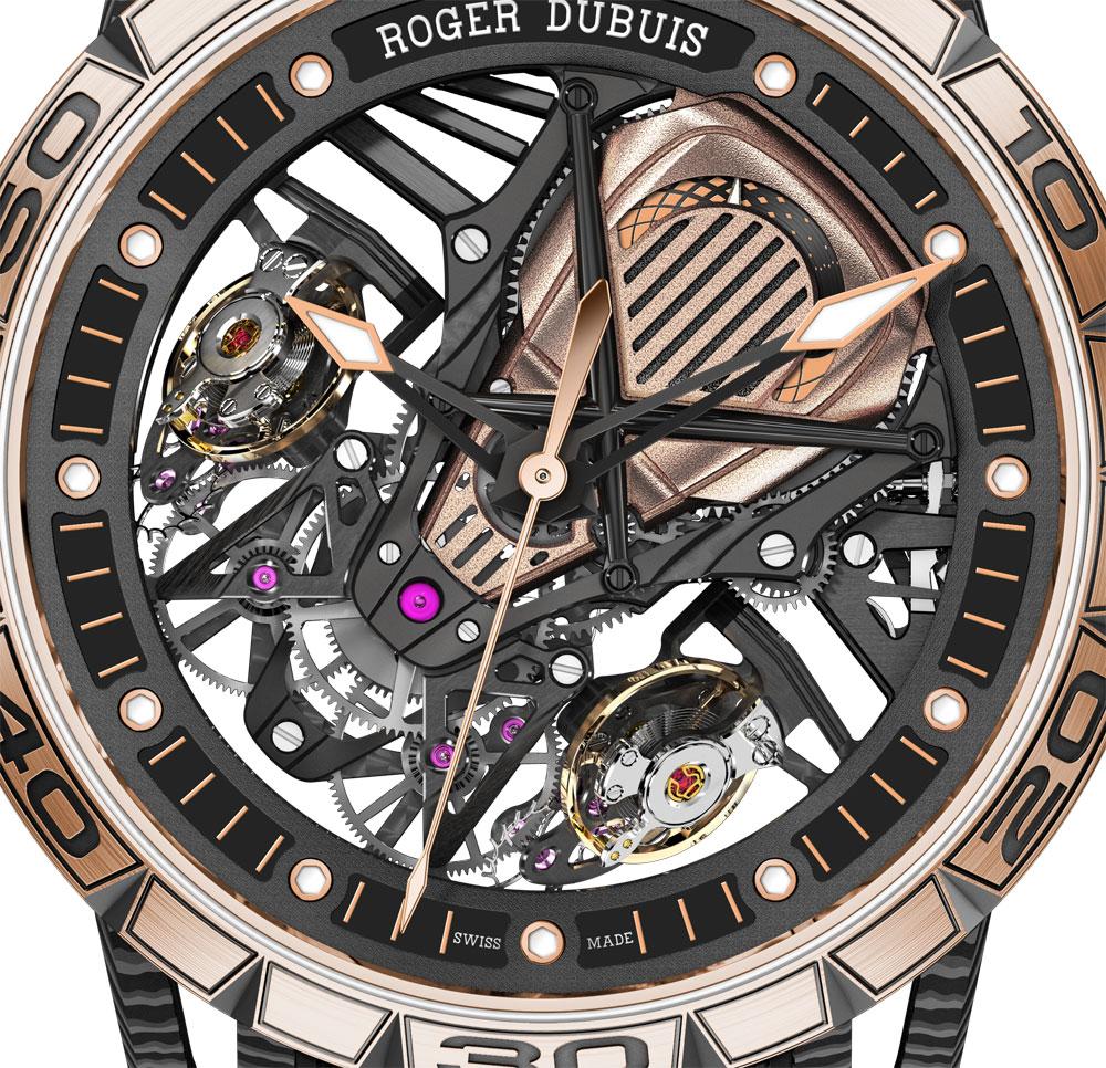 Esfera Reloj Excalibur Aventador S bisel oro rosa de Roger Dubuis
