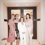 Caroline Scheufele con las modelos Karolina Kurkova, Adriana Lima y Petra Newcova inauguración segunda boutique Chopard en Miami