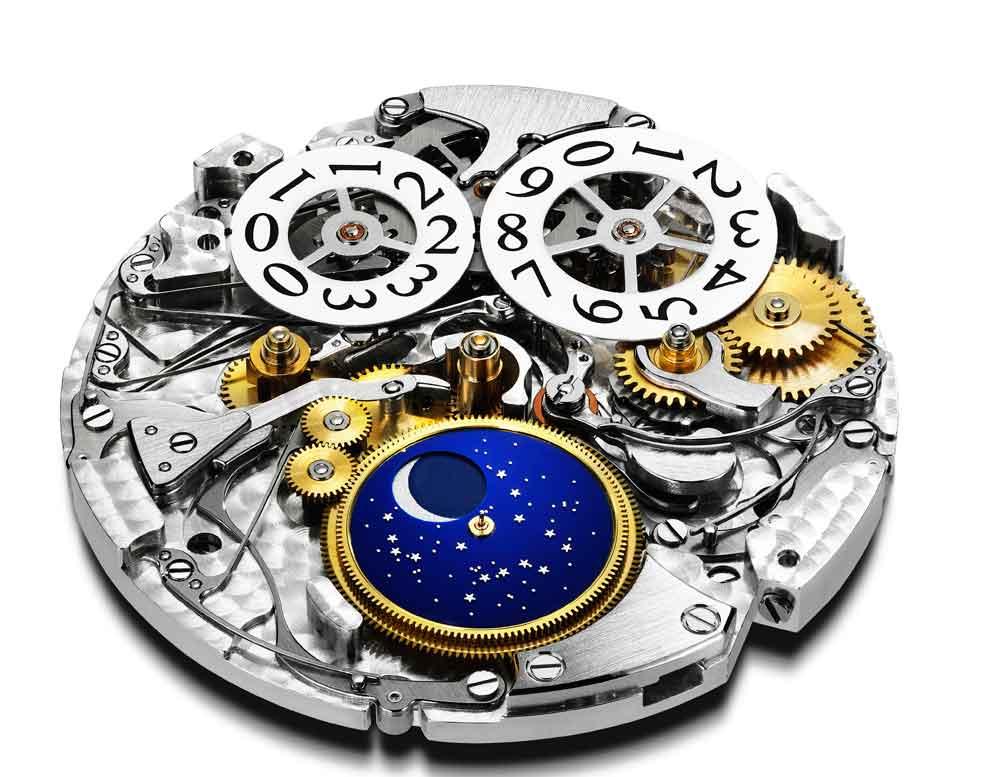 Calibre 96.13-L Chopard con calendario perpetuo con fases de luna orbital y gran fecha