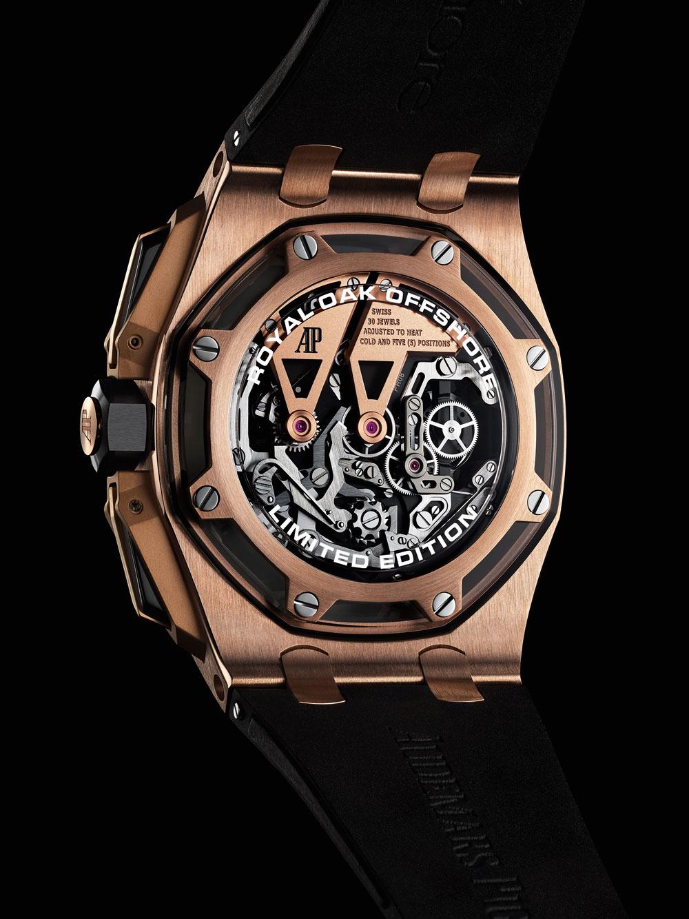 42a9b625375 Mecanismo carga manual Reloj Audemars Piguet Royal Oak Offshore Tourbillon  Chronograph oro rosa