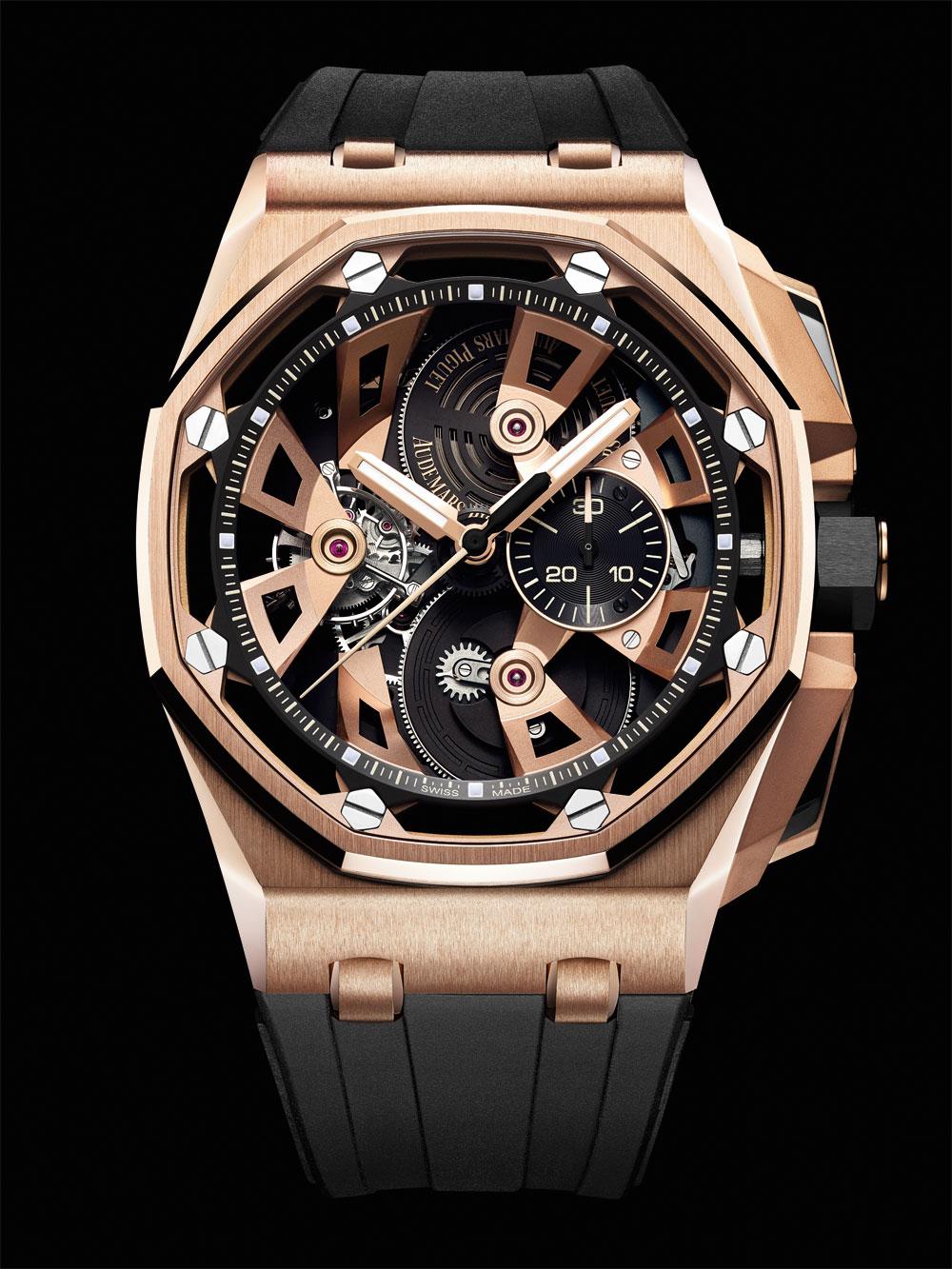 Reloj Audemars Piguet Royal Oak Offshore Tourbillon Chronograph oro rosa