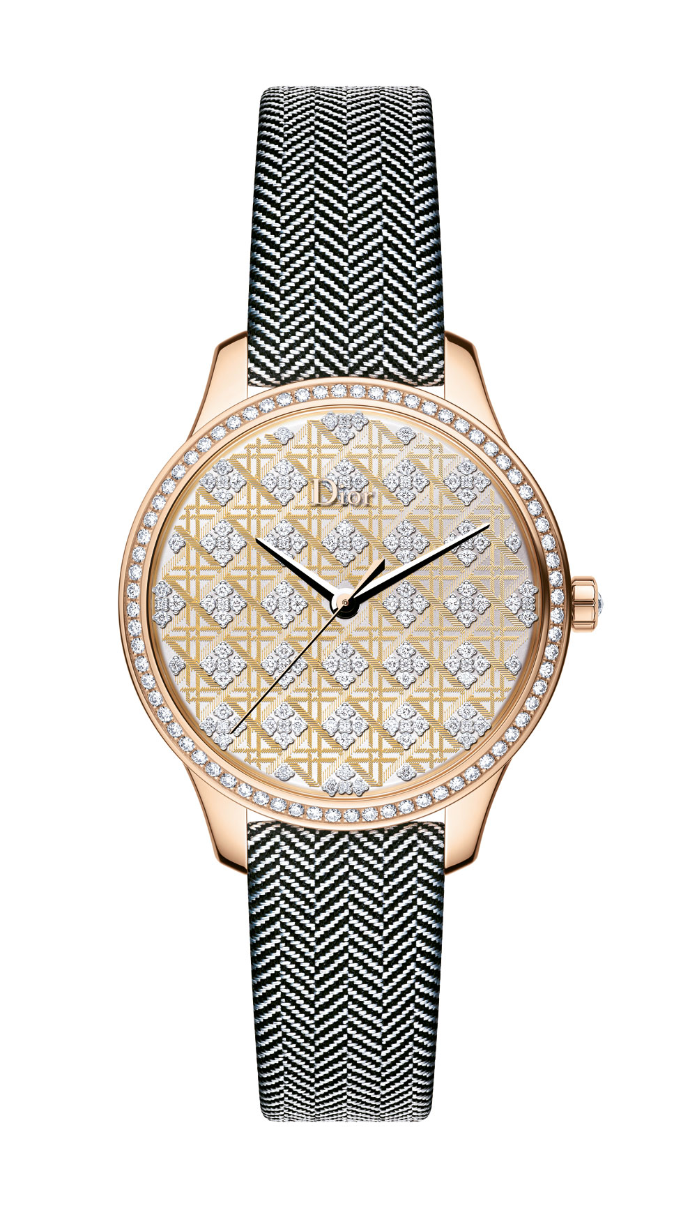 Reloj Dior VIII Mointaigne Tissage Precieux Cannage