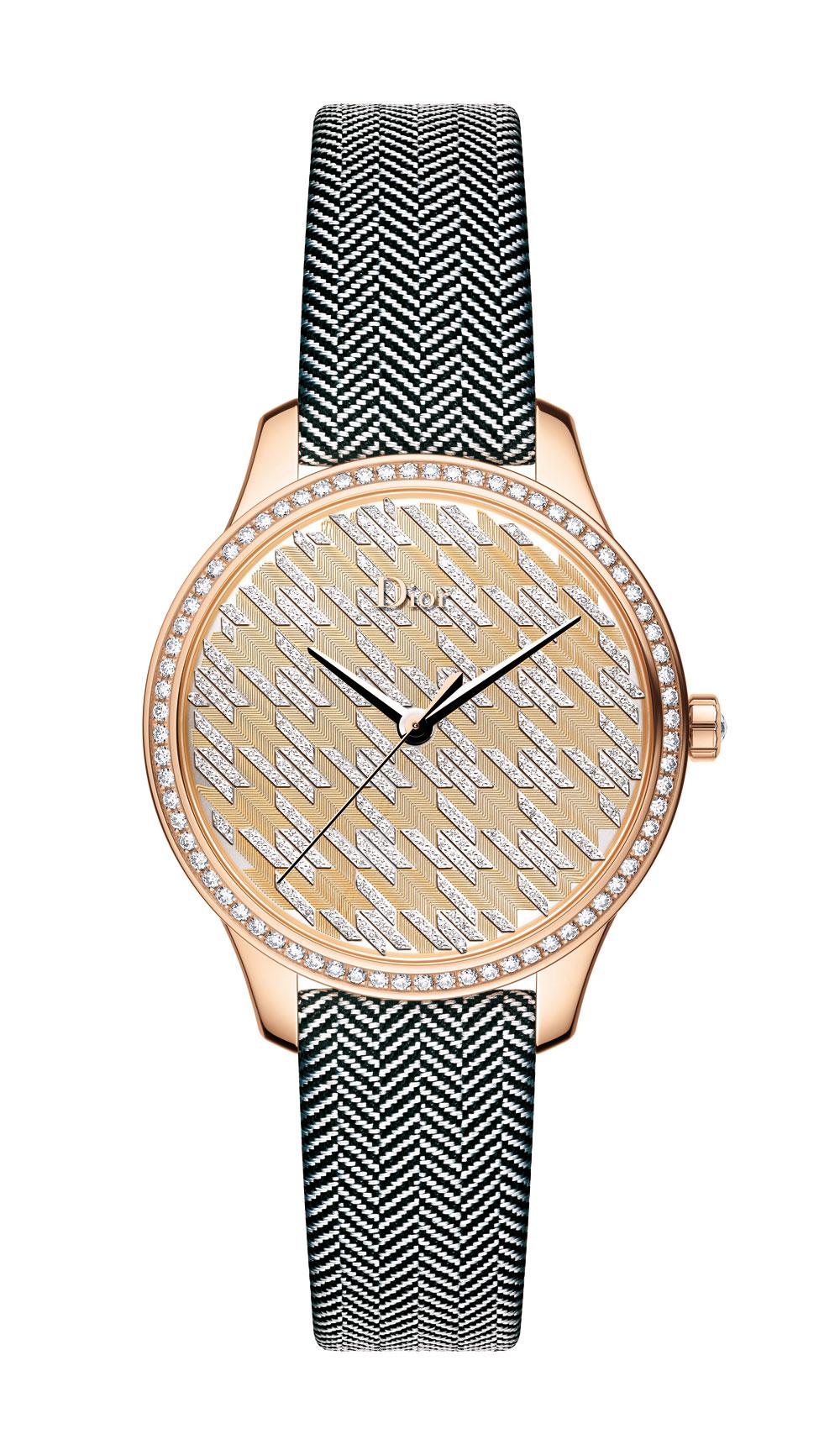 Reloj Dior VIII Mointaigne Tissage Precieux Pied-de-poule