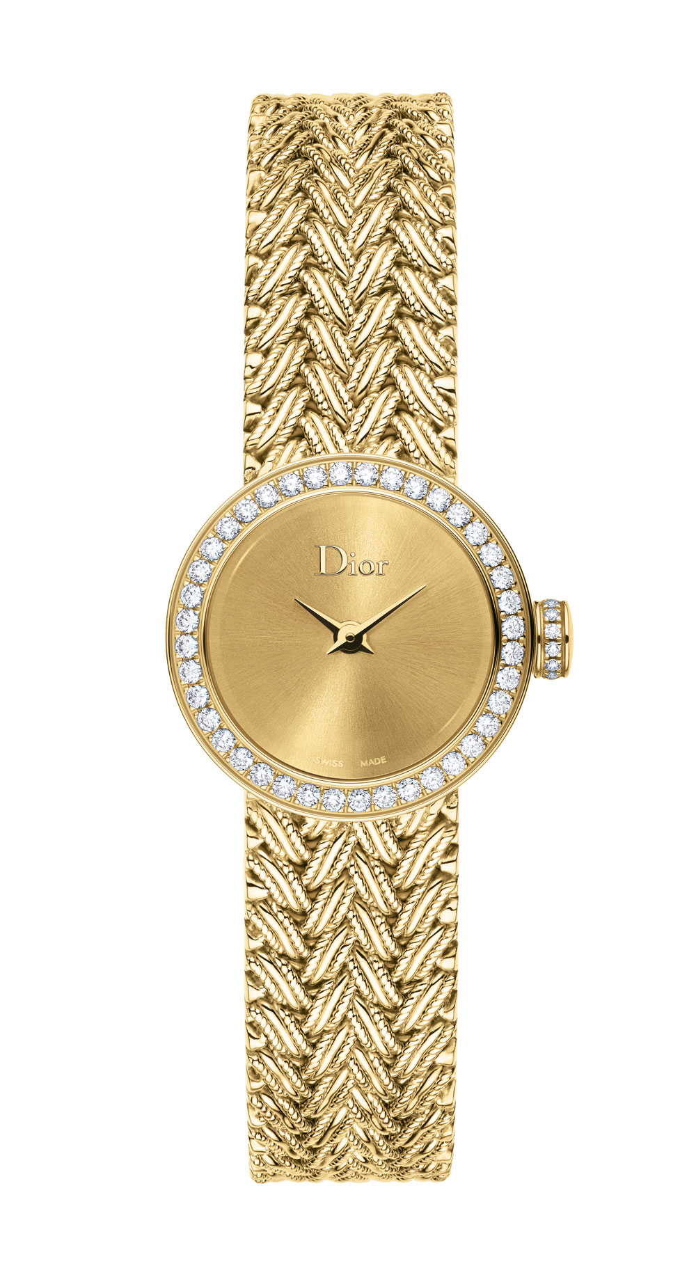 Reloj Mini D de Dior Satiné Tressée