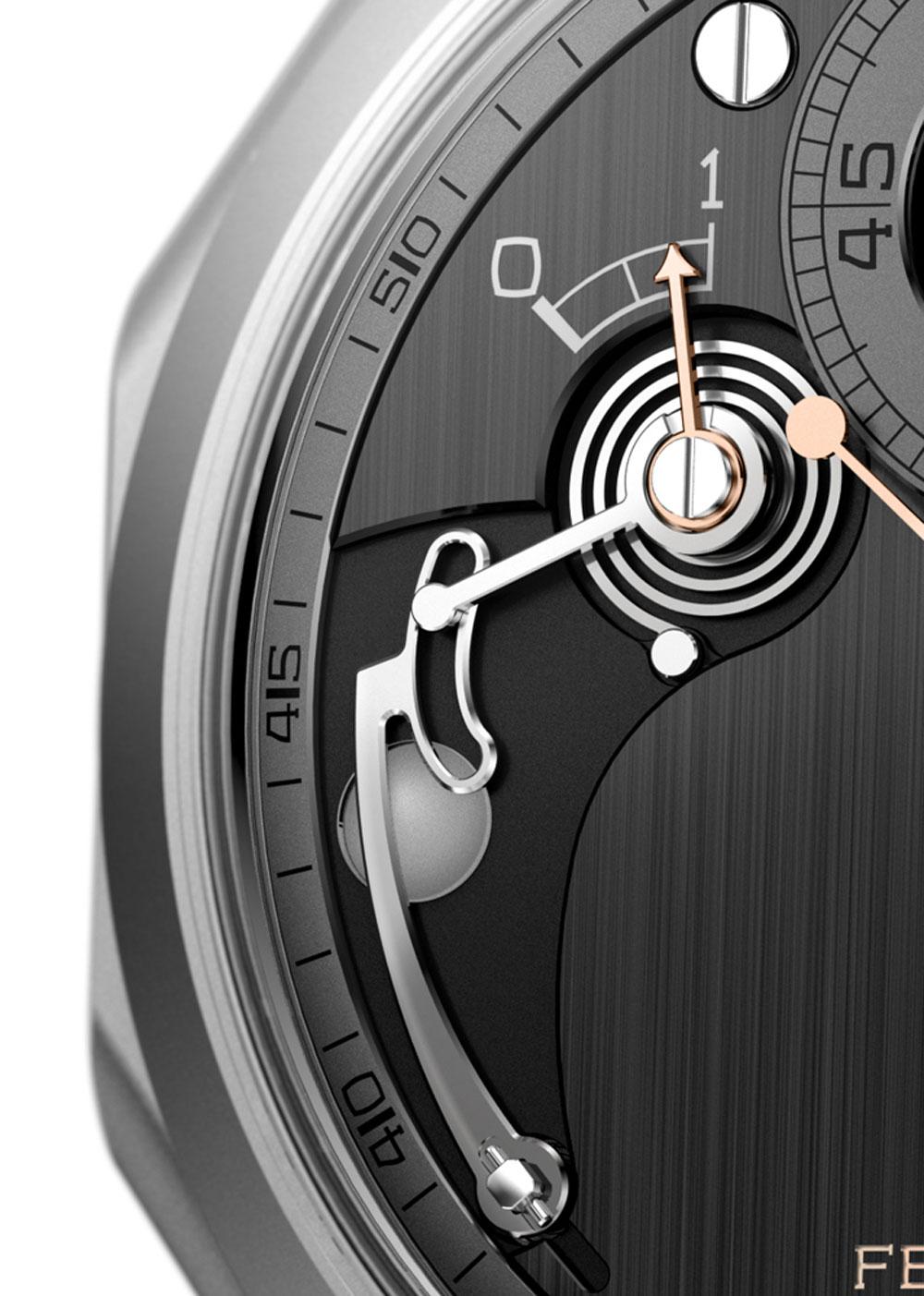 dispositivo de la indicación de la reserva de marcha reloj CHRONOMÉTRIE FERDINAND BERTHOUD FB-1R.6-1