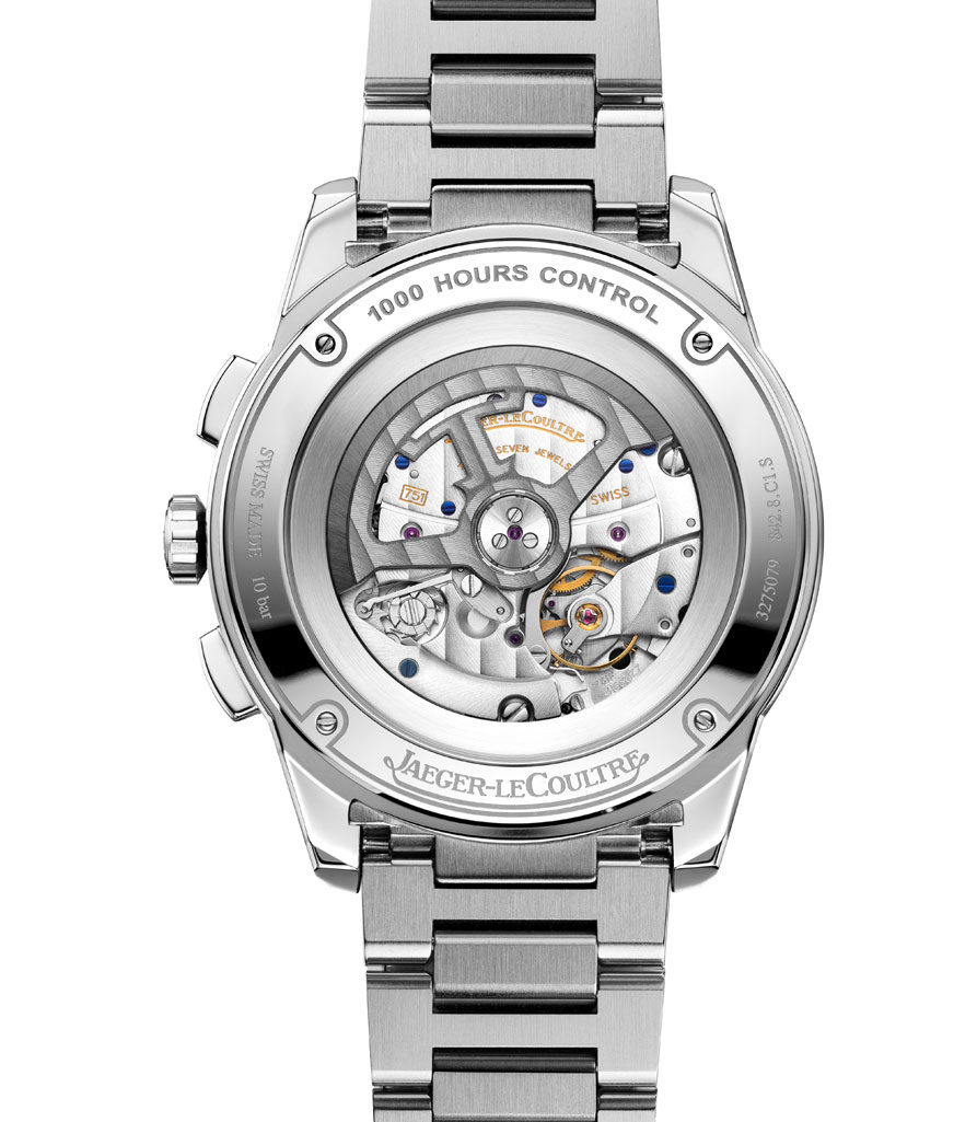 Vista calibre del Reloj Jaeger-LeCoultre Polaris Chronographa acero