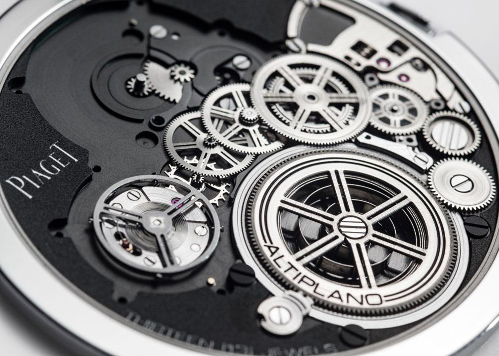 Mecanismo cuerda manual Reloj más plano del mundo Altiplano Ultimate Concept de Piaget