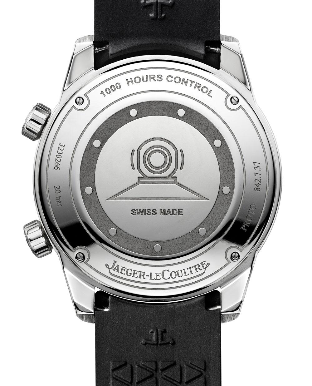 Fondo reloj Polaris Date de Jaeger-LeCoultre grabado con escafandra