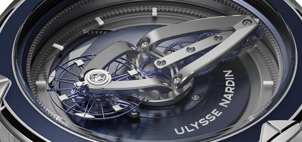 Detalle calibre Reloj Ulysse Nardin Freak Vision novedad SIHH2018