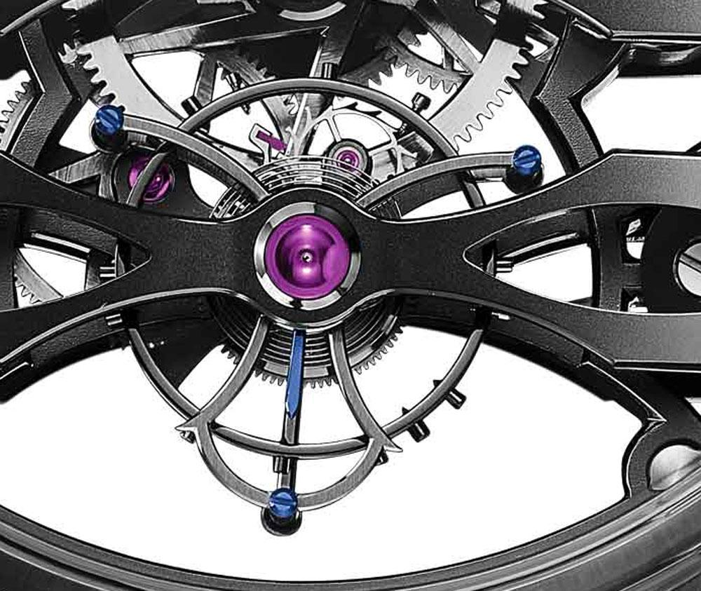Girard-Perregaux reloj Neo Tourbillon con Tres Puentes Skeleton