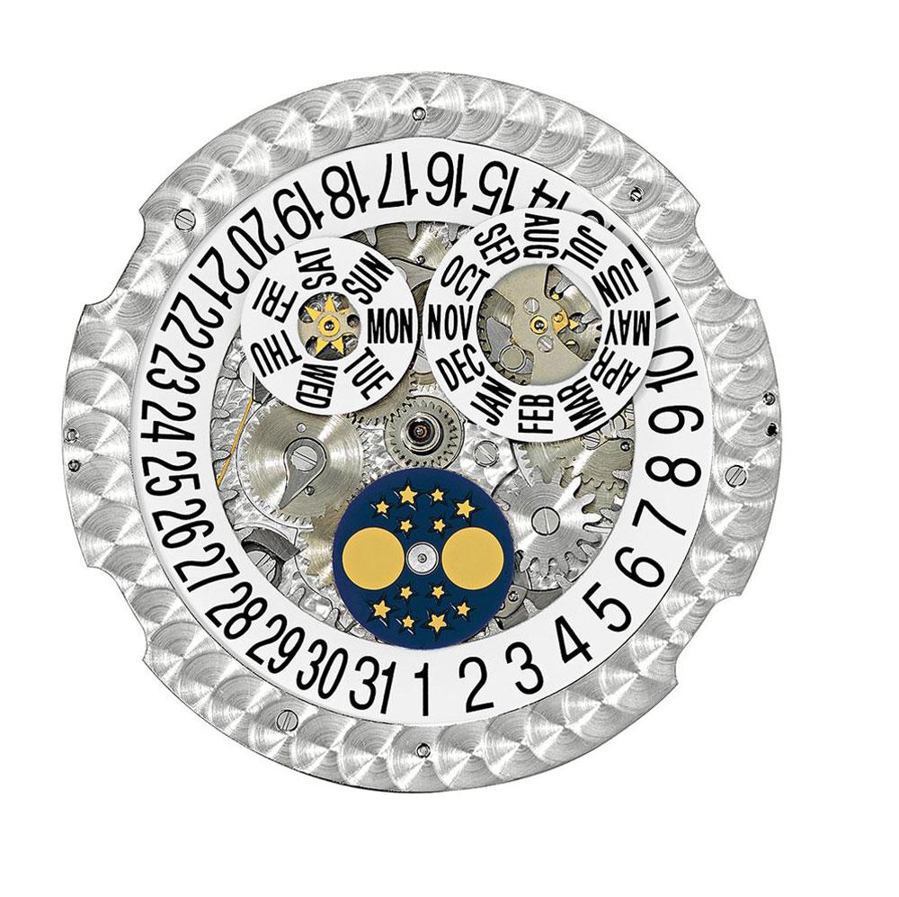 movimiento de carga automática, calibre Patek Philippe 324 S QA LU 24H/303 con calendario anual y fases lunares