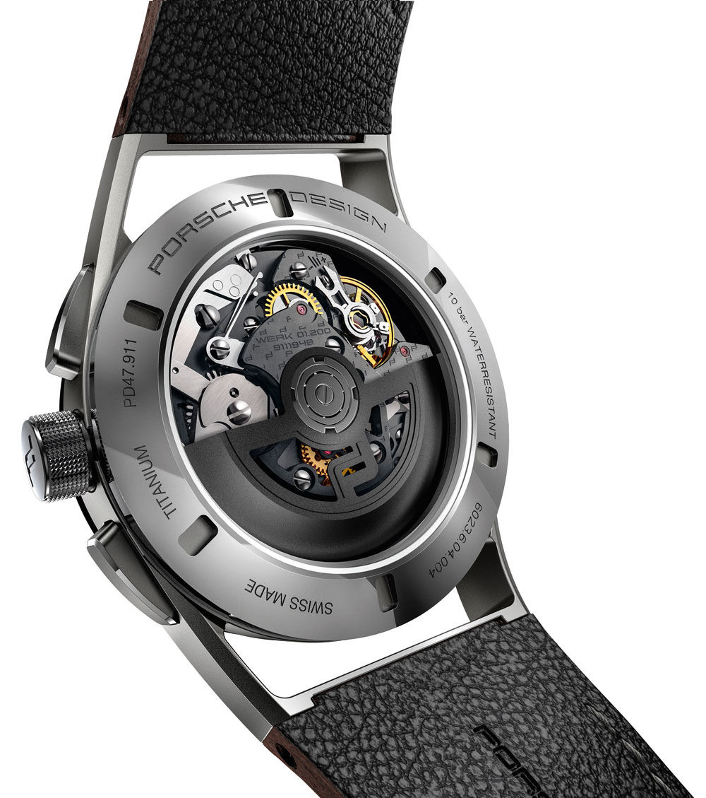 Mecanismo Reloj Porsche Design 1919 Chronotimer Flyback Brown & Leather