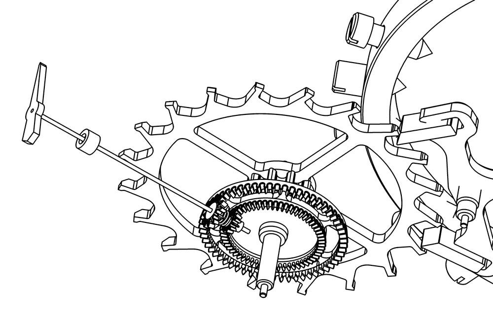 mecanismo de segundos saltantes foudroyante Greubel Forsey