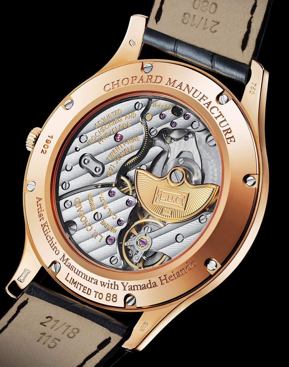 Mecanismo automático Reloj L.U.C XP URUSHI YEAR OF THE DOG DE CHOPARD