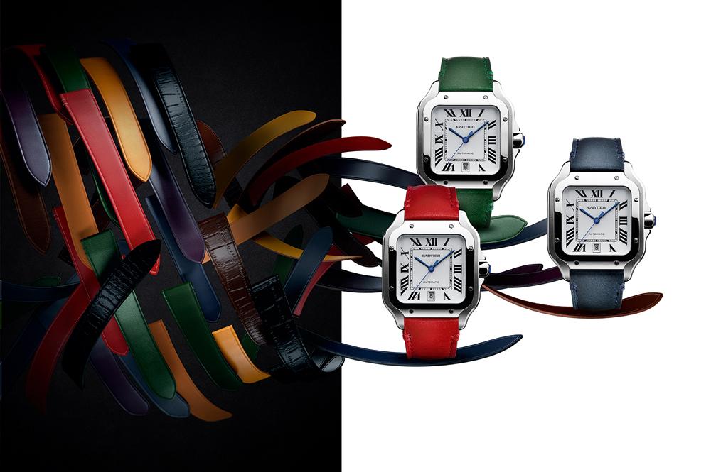 Diferentes pulseras para el reloj Santos de Cartier