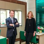 Cedric Muller, director de Rolex en España, y Christiane Bomer, directora de la joyería Wempe de Madrid.