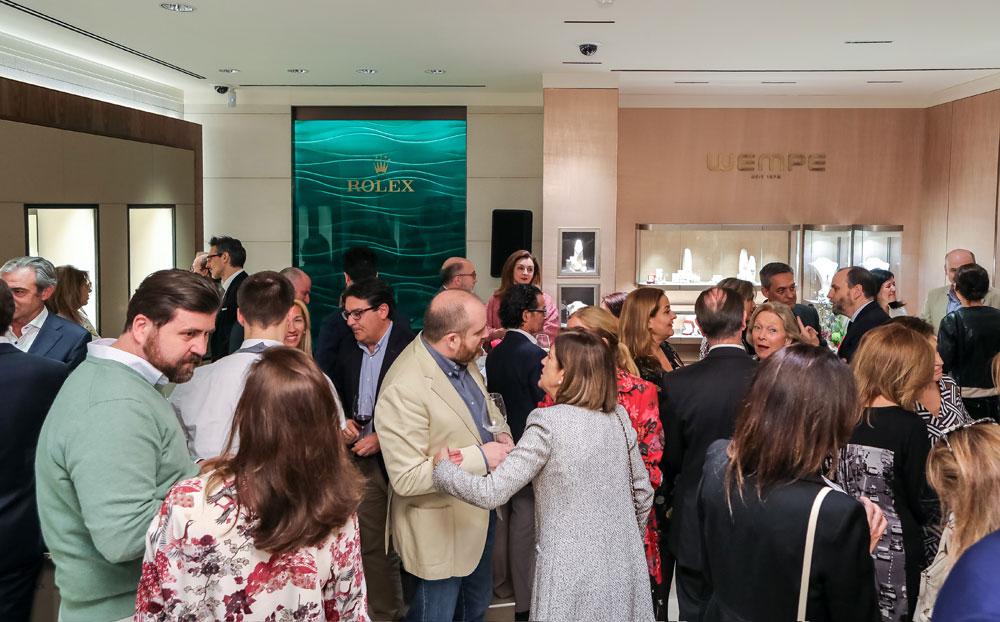 Invitados inauguración espacio Rolex en joyería Wempe