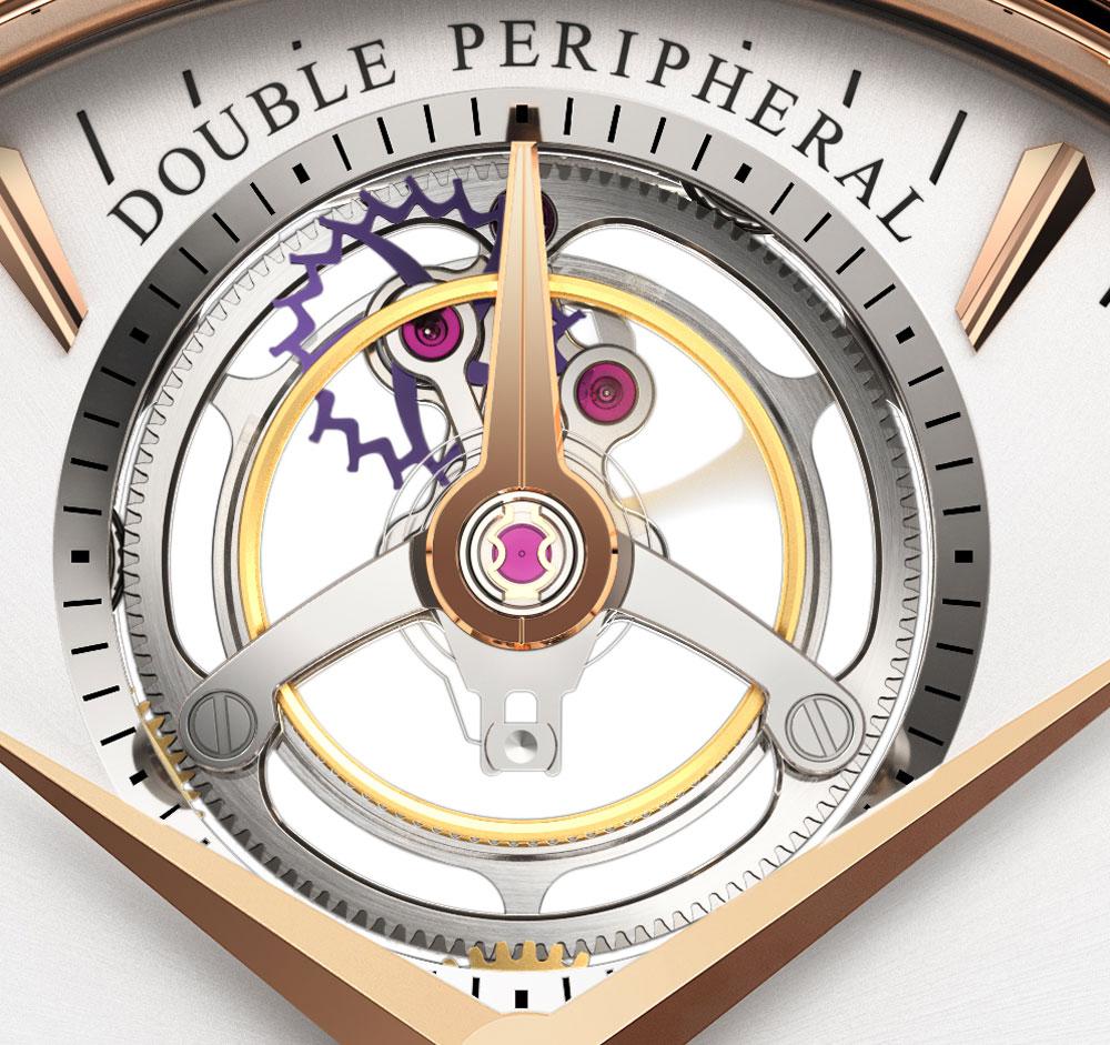 Tourbillon del reloj Manero Tourbillon Double Peripheral de Carl f. Bucherer