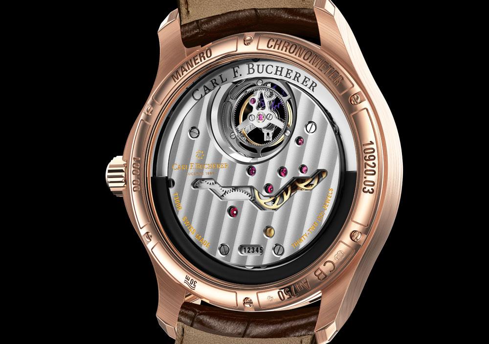 Calibre reloj Manero Tourbillon Double Peripheral de Carl F. Bucherer