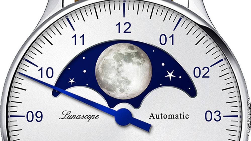 Fases lunares del reloj MEISTERSINGER LUNASCOPE