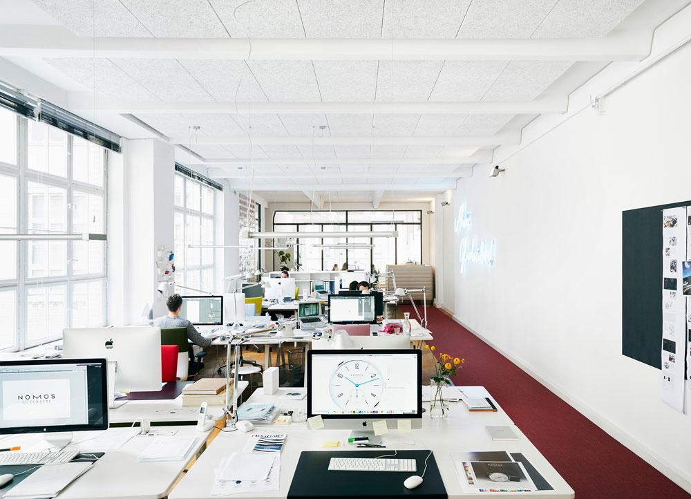 Berlinerblau, estudio de diseño en Berlín de Nomos Glashütte