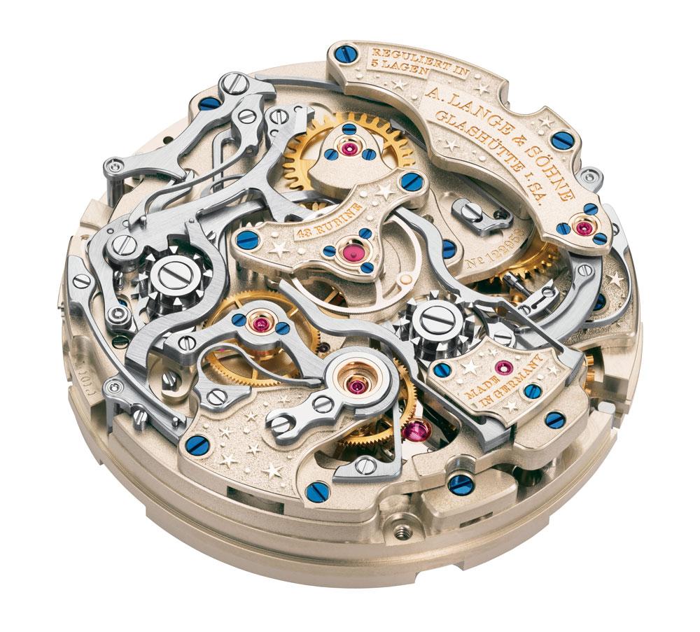 Mecanismo de carga manual reloj 1815 Ratrapante Calendario Perpetuo Handwerkskunst de A. Lange & Söhne