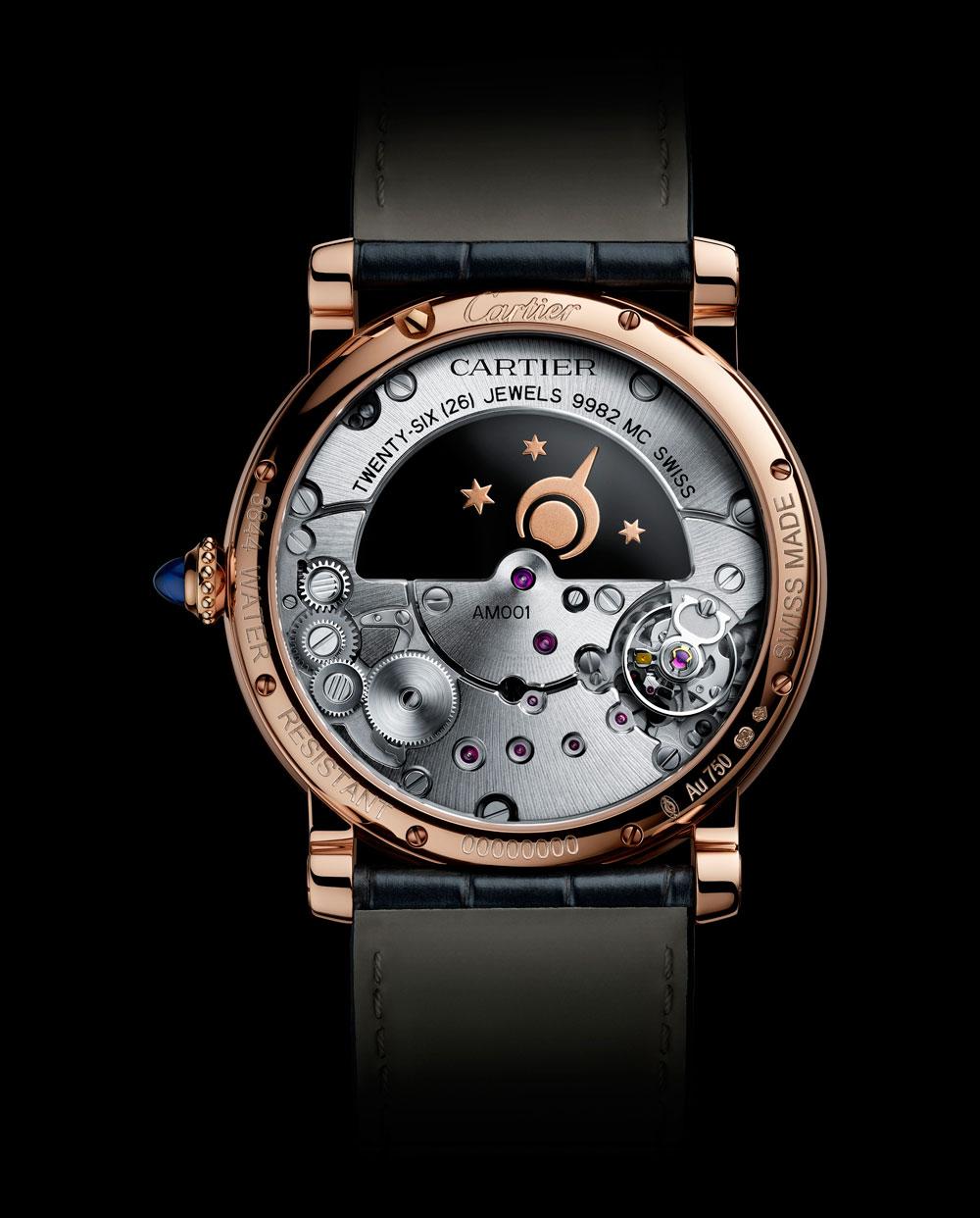 Mecanismo cuerda manual reloj ROTONDE DE CARTIER MYSTERIOUS DAY & NIGHT