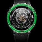 Reloj Horological Machine Nº 7 Aquapod Titanium Green. de MB&F