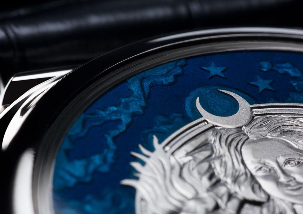 Detalle de la tapa reloj 1815 Ratrapante Calendario Perpetuo Handwerkskunst de A. Lange & Söhne